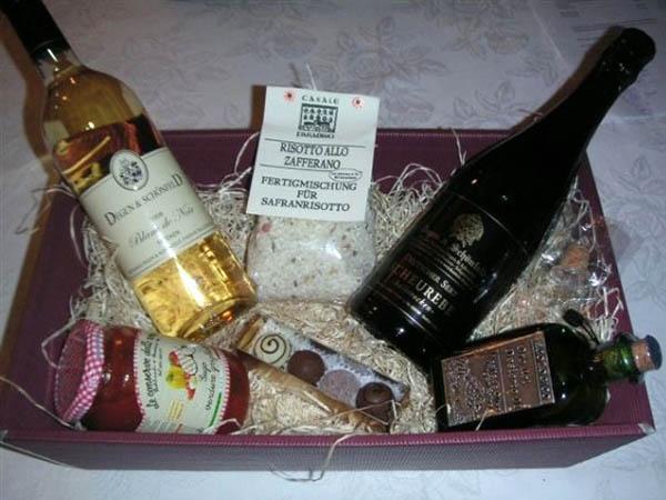 Präsentkorb mit Olivenöl